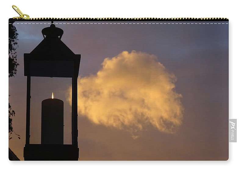Candle Carry-all Pouch featuring the photograph Sunset Candle by Marc Dettloff