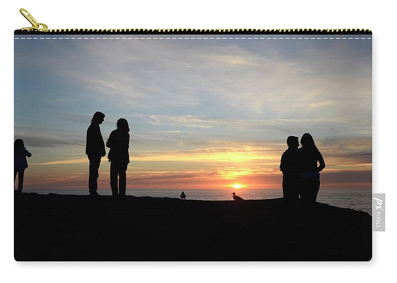 Sunset Carry-all Pouch featuring the photograph Sunset Couples by Bob Christopher