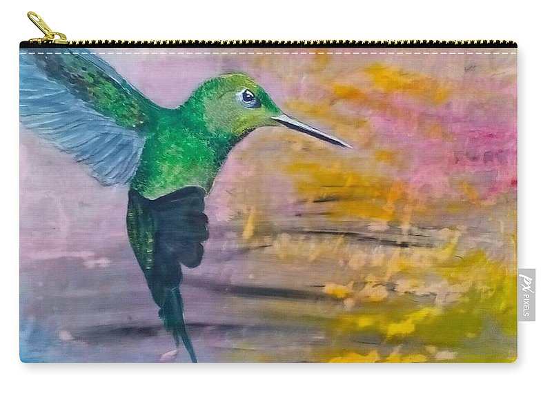 Hummingbird Carry-all Pouch featuring the painting Sunset Dancer by J Bauer