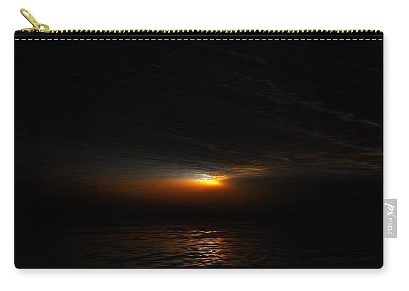 Digital Painting Carry-all Pouch featuring the digital art Sunset by David Lane