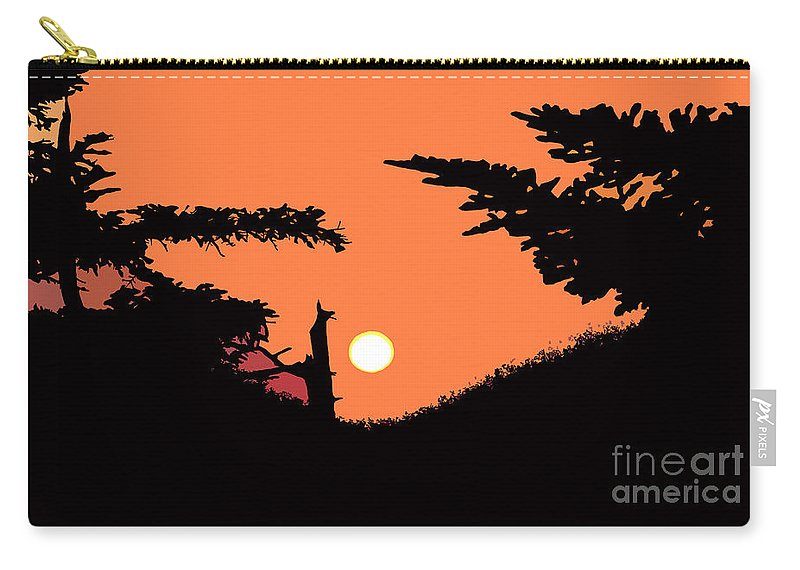 Sunset Carry-all Pouch featuring the painting Sunset by David Lee Thompson