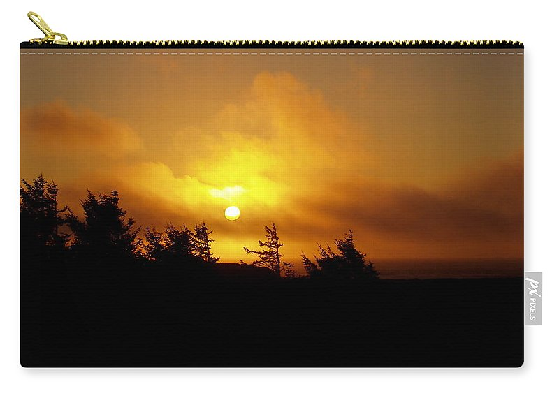 Sunset Carry-all Pouch featuring the photograph Sunset by Deborah Crew-Johnson