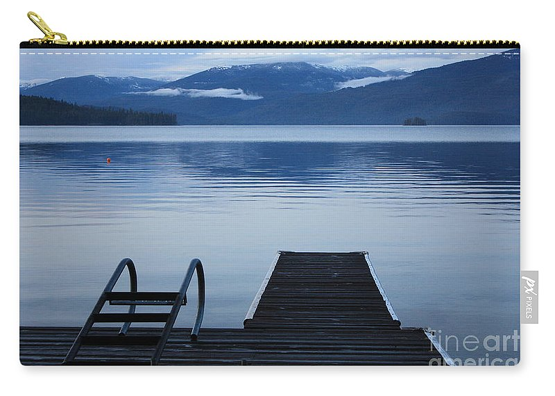 Priest Lake Carry-all Pouch featuring the photograph Sunset Dock At Priest Lake by Carol Groenen
