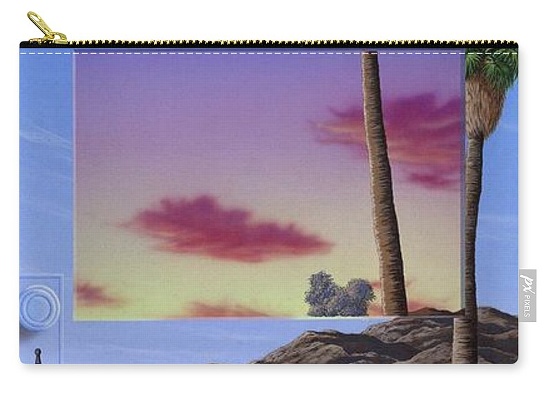 Landscape Carry-all Pouch featuring the painting Sunset Door by Snake Jagger