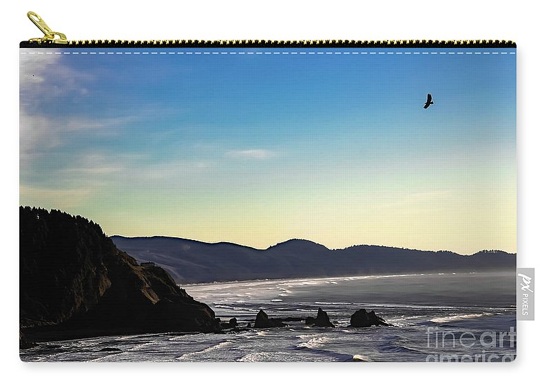 Jon Burch Carry-all Pouch featuring the photograph Sunset Eagle by Jon Burch Photography