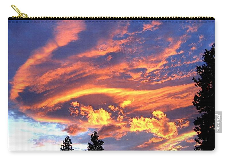 Sunset Carry-all Pouch featuring the photograph Sunset Extravaganza by Will Borden