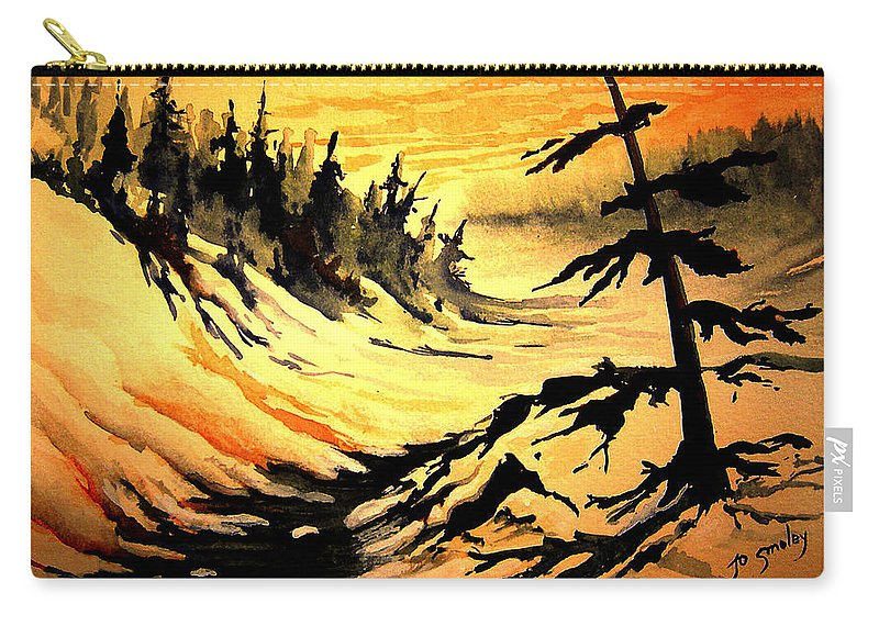 Sunset Extreme Carry-all Pouch featuring the painting Sunset Extreme by Joanne Smoley