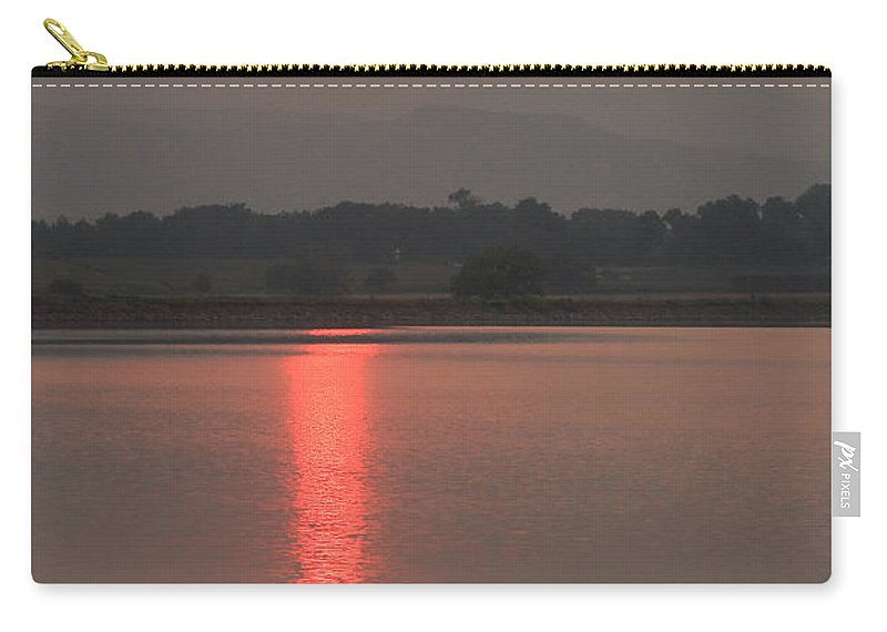 Sunsets Carry-all Pouch featuring the photograph Sunset Fire by James BO Insogna