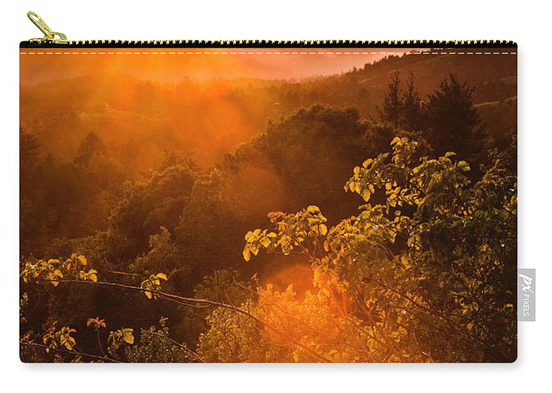 Pacific Carry-all Pouch featuring the photograph Sunset Fog Over The Pacific #2 by Bryant Coffey