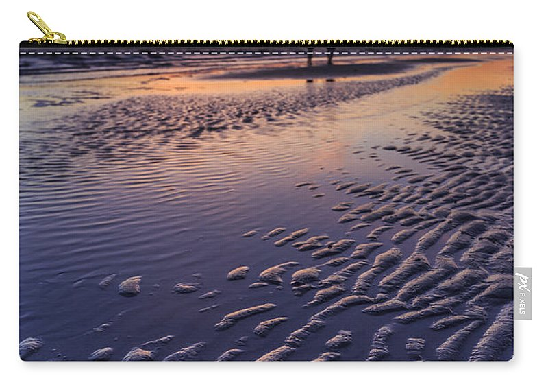 Sand Carry-all Pouch featuring the photograph Sunset Fort Myers Beach Florida by Edward Fielding