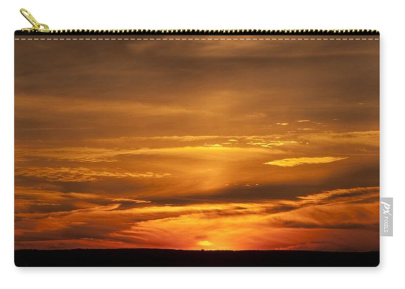 Sunset Carry-all Pouch featuring the photograph Sunset Gate 17 by Steven Natanson