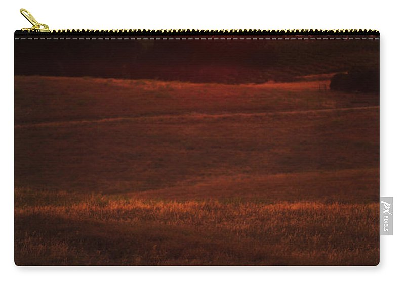Sunset Carry-all Pouch featuring the photograph Sunset Gate by Jill Reger