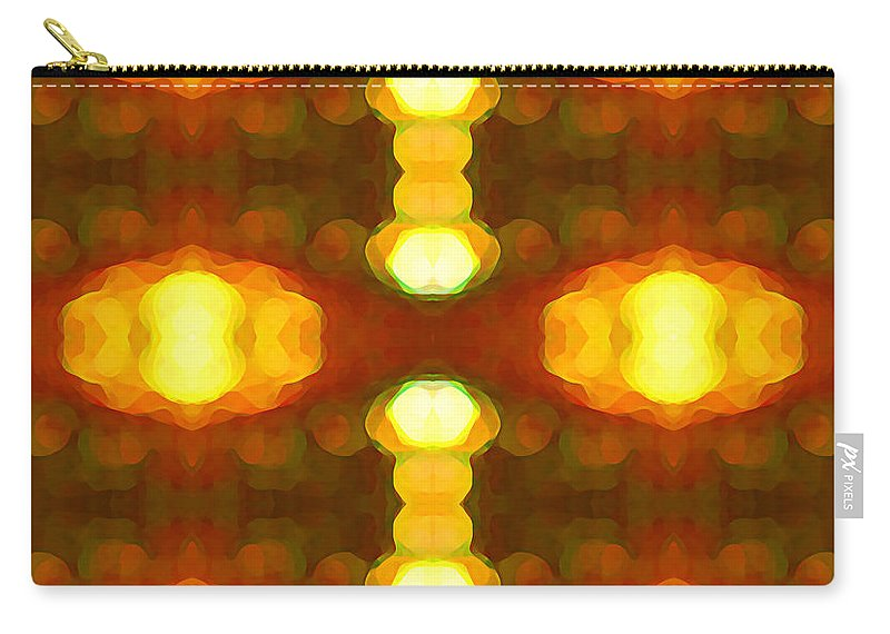 Abstract Painting Carry-all Pouch featuring the digital art Sunset Glow 1 by Amy Vangsgard