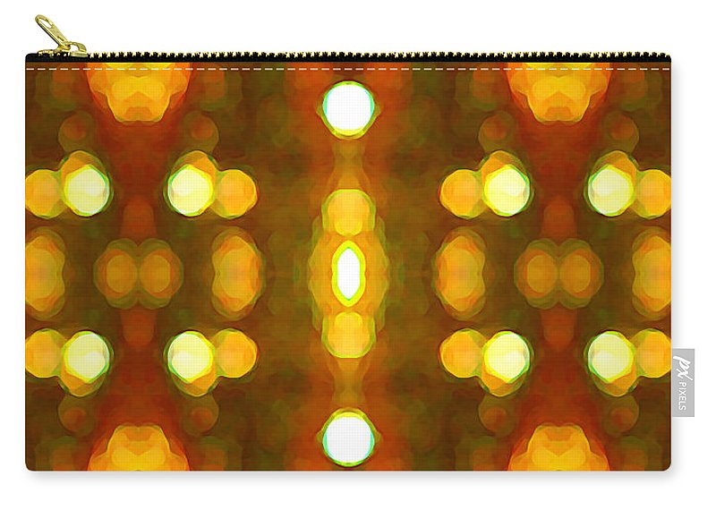 Abstract Carry-all Pouch featuring the painting Sunset Glow 2 by Amy Vangsgard