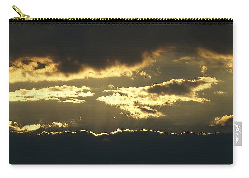 Clouds Carry-all Pouch featuring the photograph Sunset by Heidi Poulin