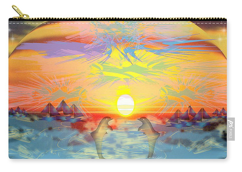 Nature Carry-all Pouch featuring the digital art Sunset IIi by George Pasini