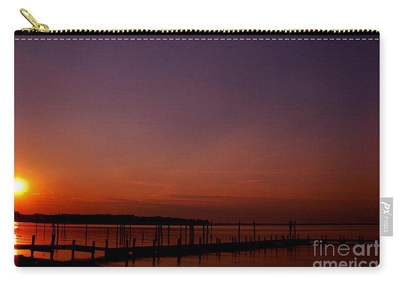 Clay Carry-all Pouch featuring the photograph Sunset In Colonial Beach by Clayton Bruster