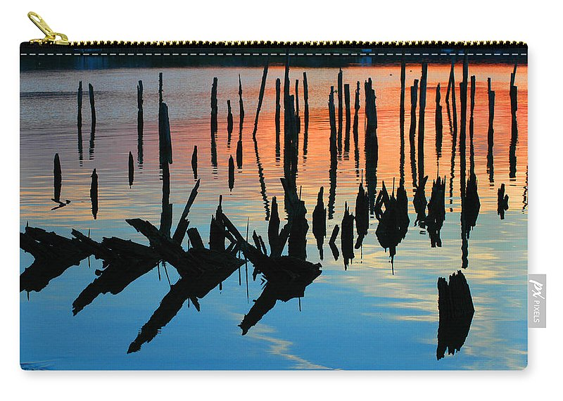 Clay Carry-all Pouch featuring the photograph Sunset In Colonial Beach Virginia by Clayton Bruster