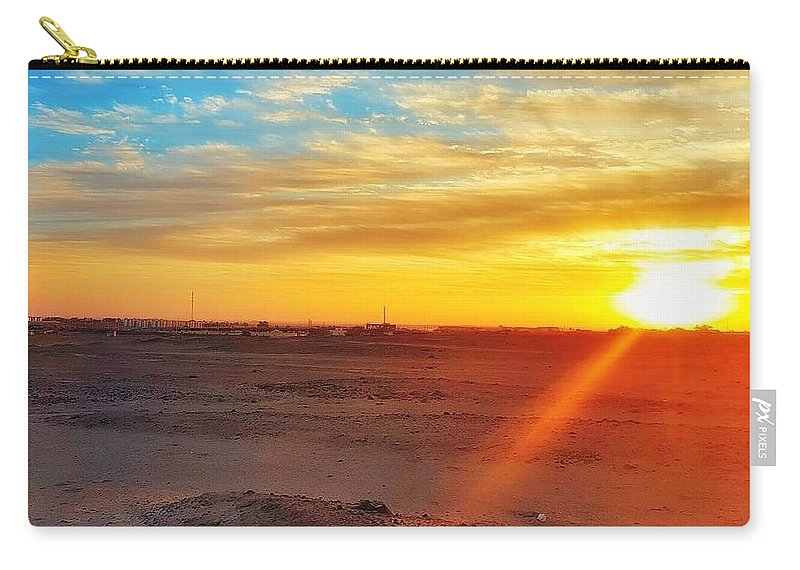 Sunset Carry-all Pouch featuring the photograph Sunset In Egypt by Usman Idrees