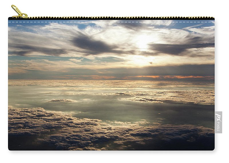 Aerial Carry-all Pouch featuring the photograph Sunset In Heaven by Ramunas Bruzas