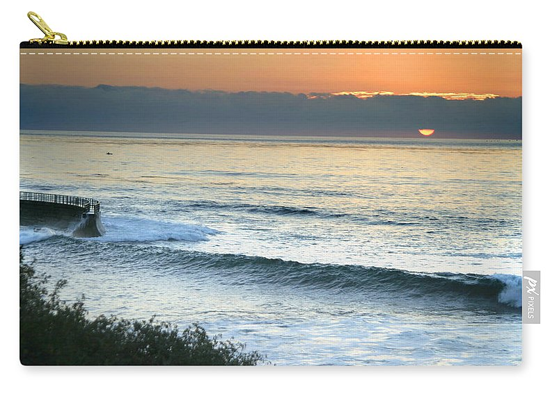 Sunset Carry-all Pouch featuring the photograph Sunset In La Jolla by Anthony Jones