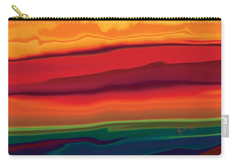 Art Carry-all Pouch featuring the digital art Sunset In Ottawa Valley 1 by Rabi Khan