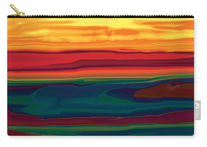 Art Carry-all Pouch featuring the digital art Sunset In Ottawa Valley by Rabi Khan