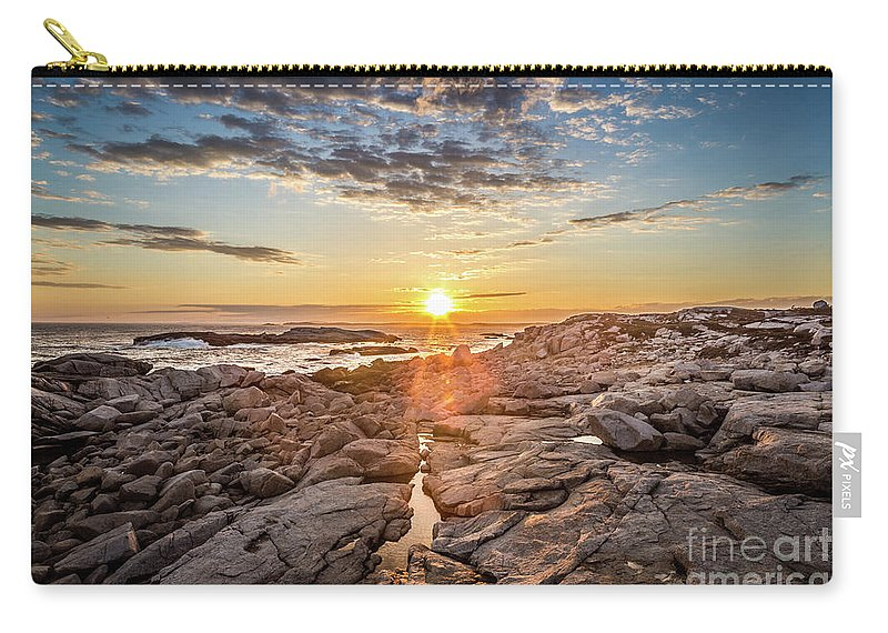 Sunset Carry-all Pouch featuring the photograph Sunset In Prospect, Nova Scotia by Mike Organ