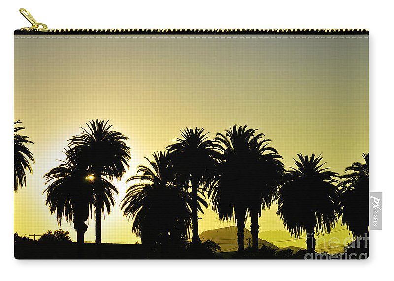 Clay Carry-all Pouch featuring the photograph Sunset In Socal by Clayton Bruster