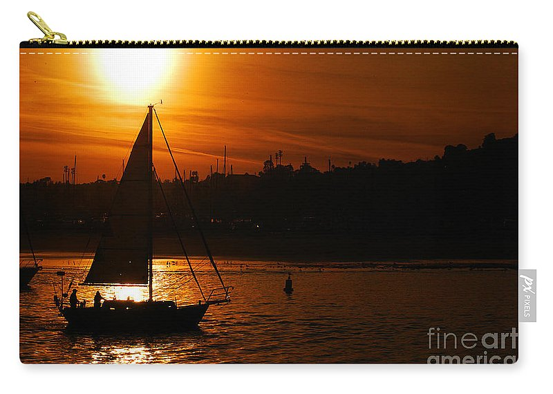 Clay Carry-all Pouch featuring the photograph Sunset In Southern California by Clayton Bruster