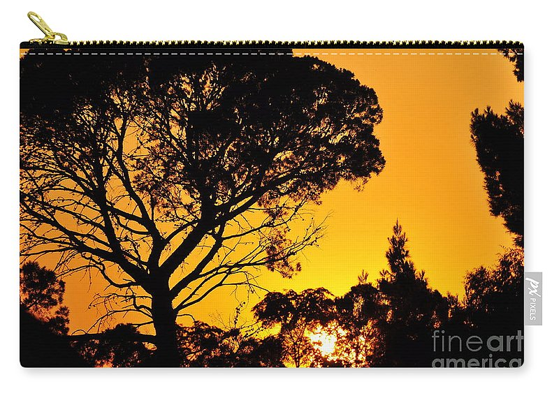 Clay Carry-all Pouch featuring the photograph Sunset In Tujunga by Clayton Bruster