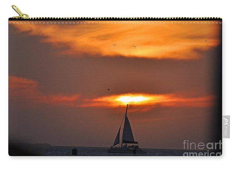 Key West Florida Carry-all Pouch featuring the photograph Sunset Key West by Davids Digits