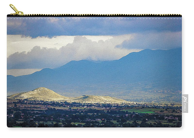 Landscape Carry-all Pouch featuring the photograph Sunset Light 1 by IK Hadinger