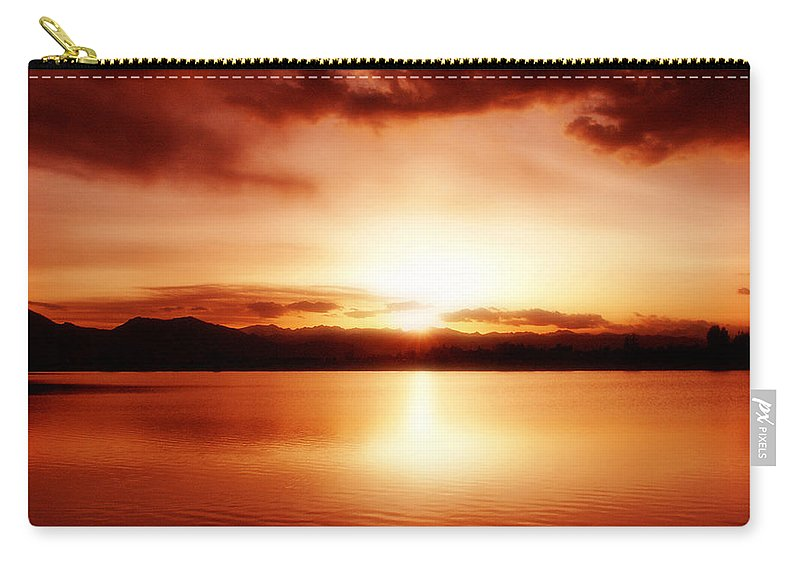 Lake Carry-all Pouch featuring the photograph Sunset by Marilyn Hunt