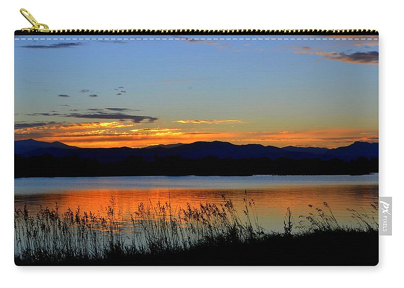 Lake Dillon Carry-all Pouch featuring the photograph Sunset On Lake Dillon by Regina Strehl