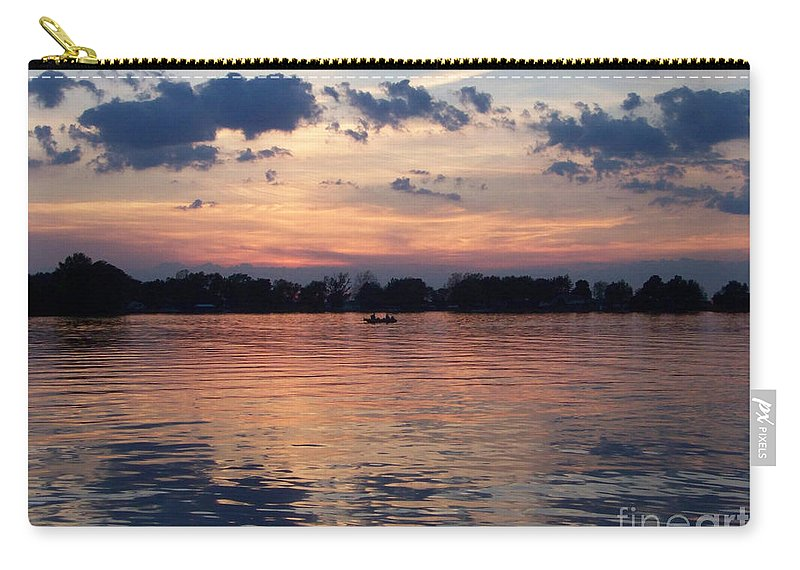 Lake Carry-all Pouch featuring the photograph Sunset On Lake Mattoon by Kathy McClure