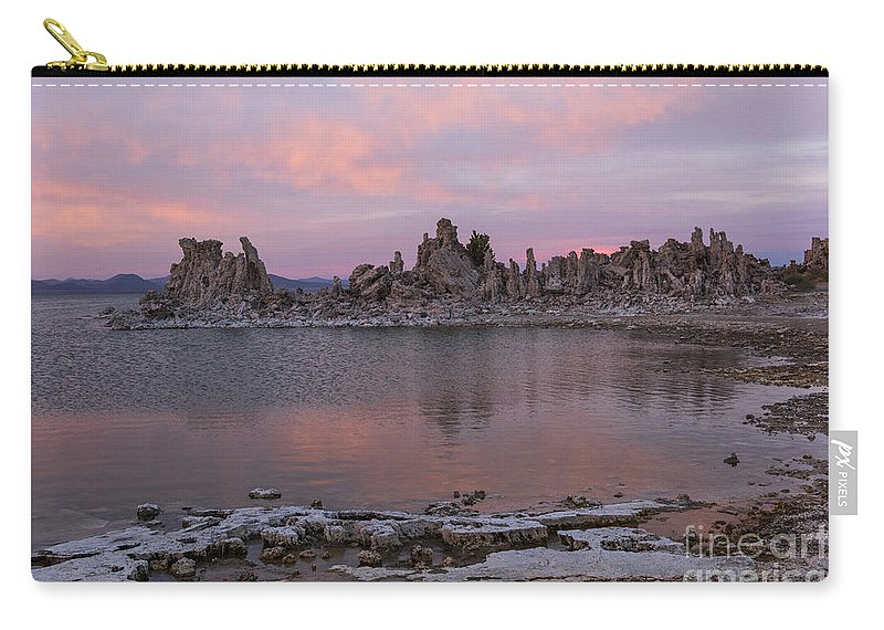 Sunsets Carry-all Pouch featuring the photograph Sunset On Mono Lake by Sandra Bronstein