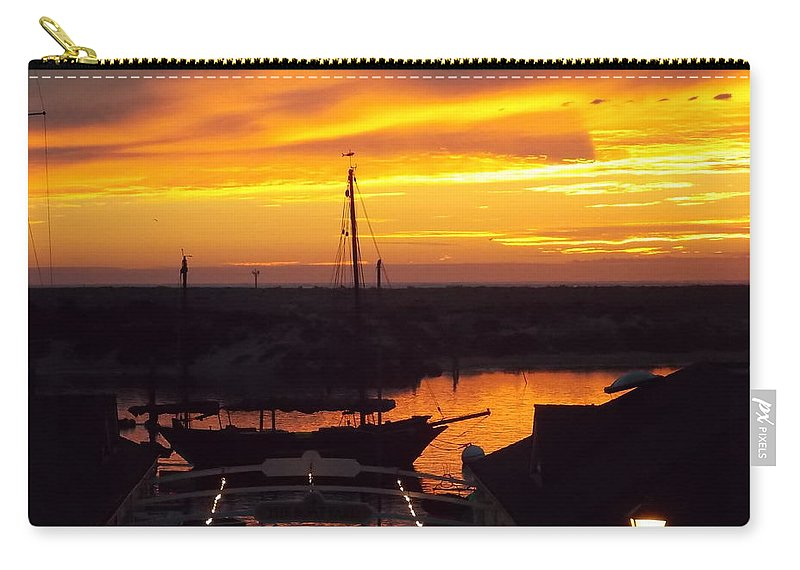 Sunset Carry-all Pouch featuring the photograph Sunset On Morro Bay by Kathleen Moore Lutz
