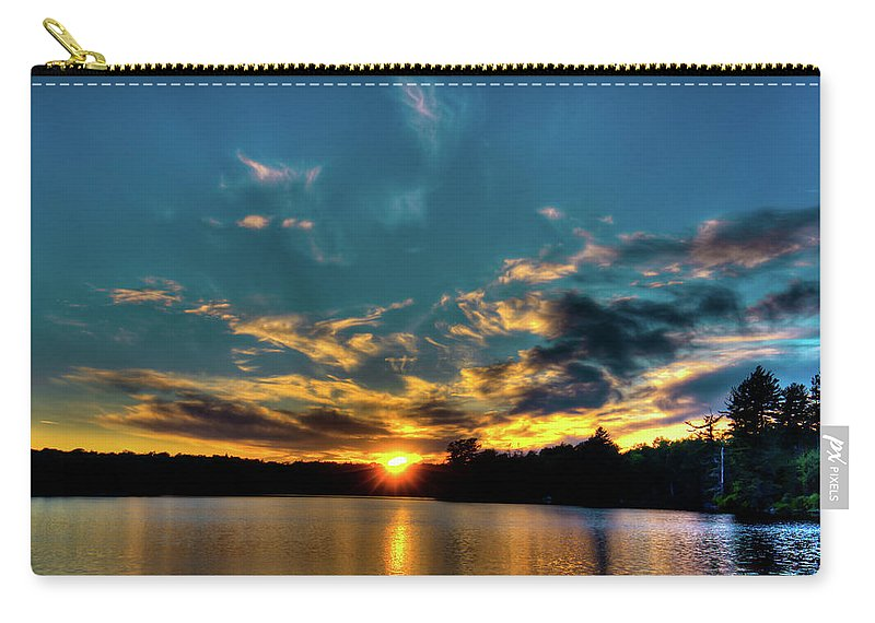 Sunset On Nicks Lake Carry-all Pouch featuring the photograph Sunset On Nicks Lake by David Patterson