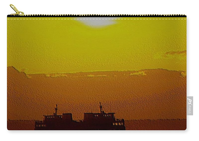Seattle Carry-all Pouch featuring the photograph Sunset On Puget Sound by Tim Allen