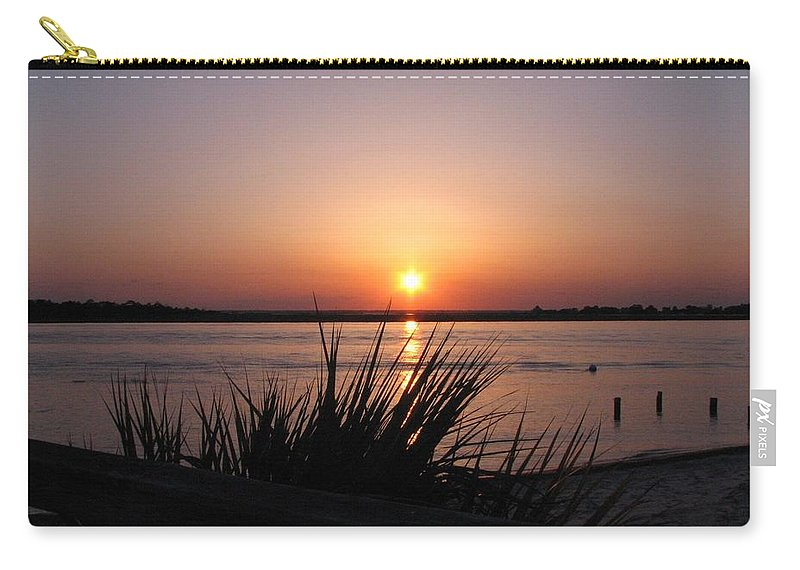 Sunset Carry-all Pouch featuring the photograph Sunset On The Atlantic by J M Farris Photography