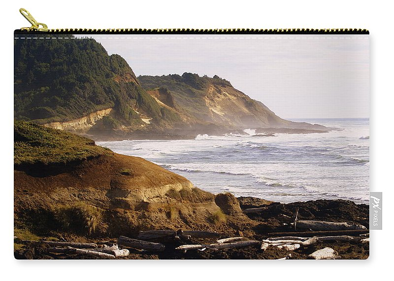 Ocean Carry-all Pouch featuring the photograph Sunset On The Coast by Marty Koch