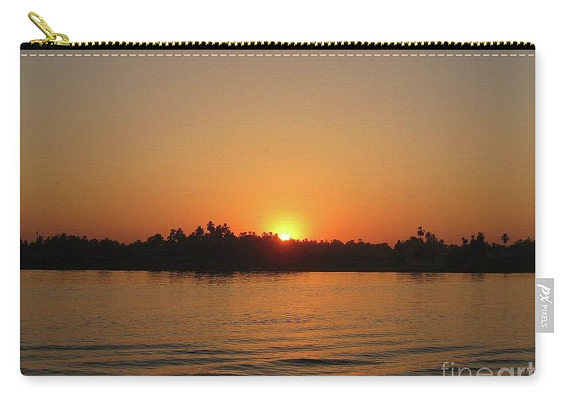 Sunset Carry-all Pouch featuring the painting Sunset On The Nile by John Malone