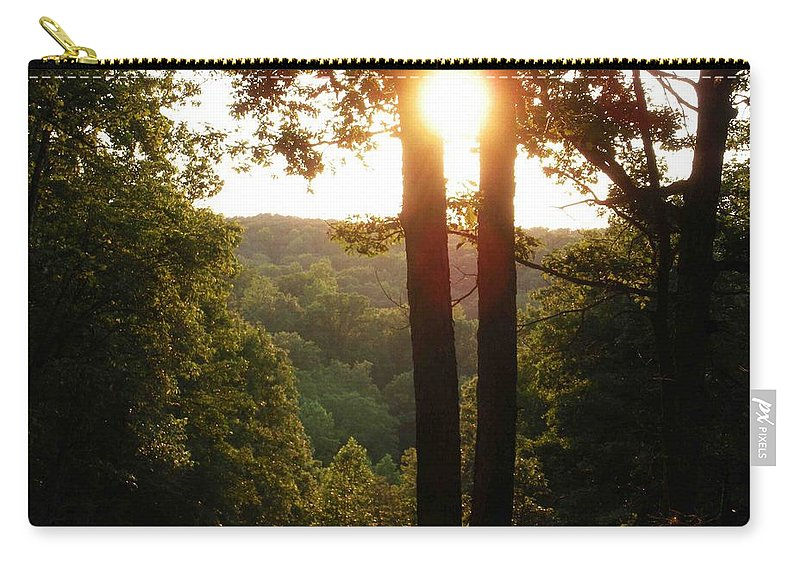 Sunset Carry-all Pouch featuring the photograph Sunset On The Trace by Nelson Strong