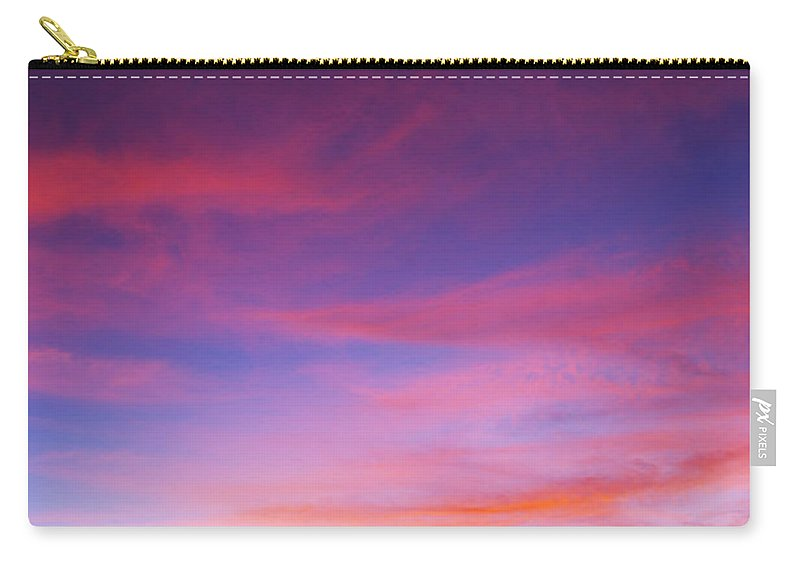 Sunset Carry-all Pouch featuring the photograph Sunset Over Desert by Jill Reger