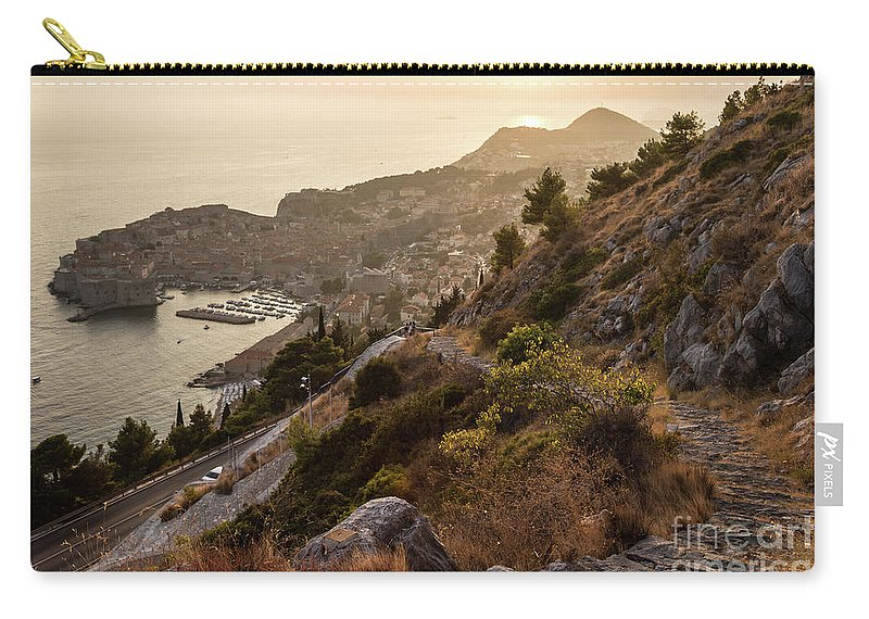Balkans Carry-all Pouch featuring the photograph Sunset Over Dubrovnik by Didier Marti
