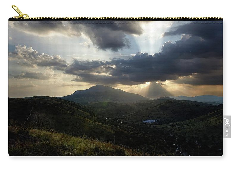 Indian Springs Carry-all Pouch featuring the photograph Sunset over Indian Springs by Roy Nierdieck