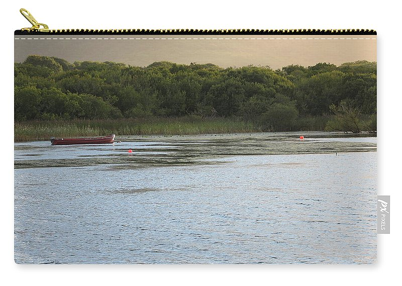 Boat Carry-all Pouch featuring the photograph Sunset Over Killarney by Kelly Mezzapelle