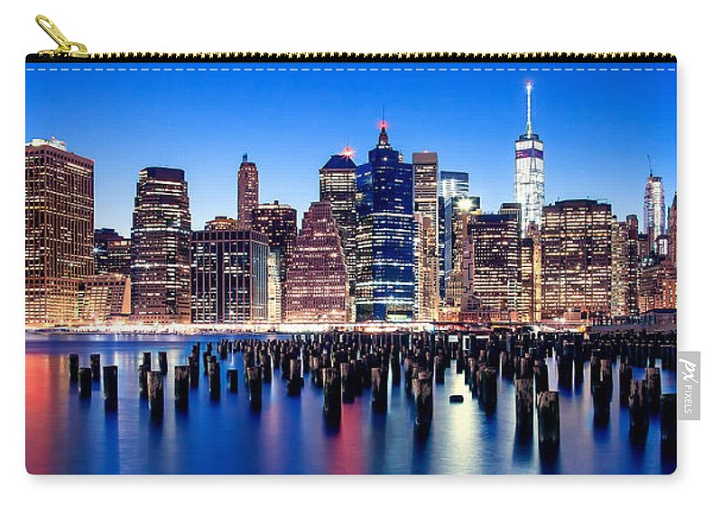 New York City Carry-all Pouch featuring the photograph Magic Manhattan by Az Jackson