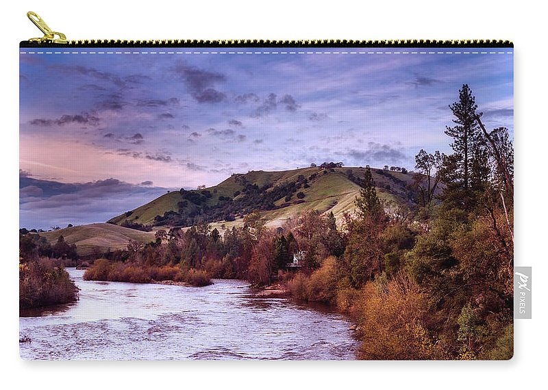 American River Carry-all Pouch featuring the photograph Sunset Over The American River by Mountain Dreams